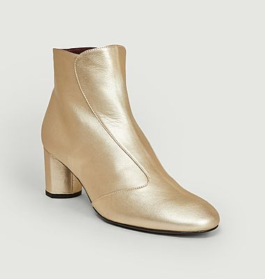 Sosie metallic leather boots