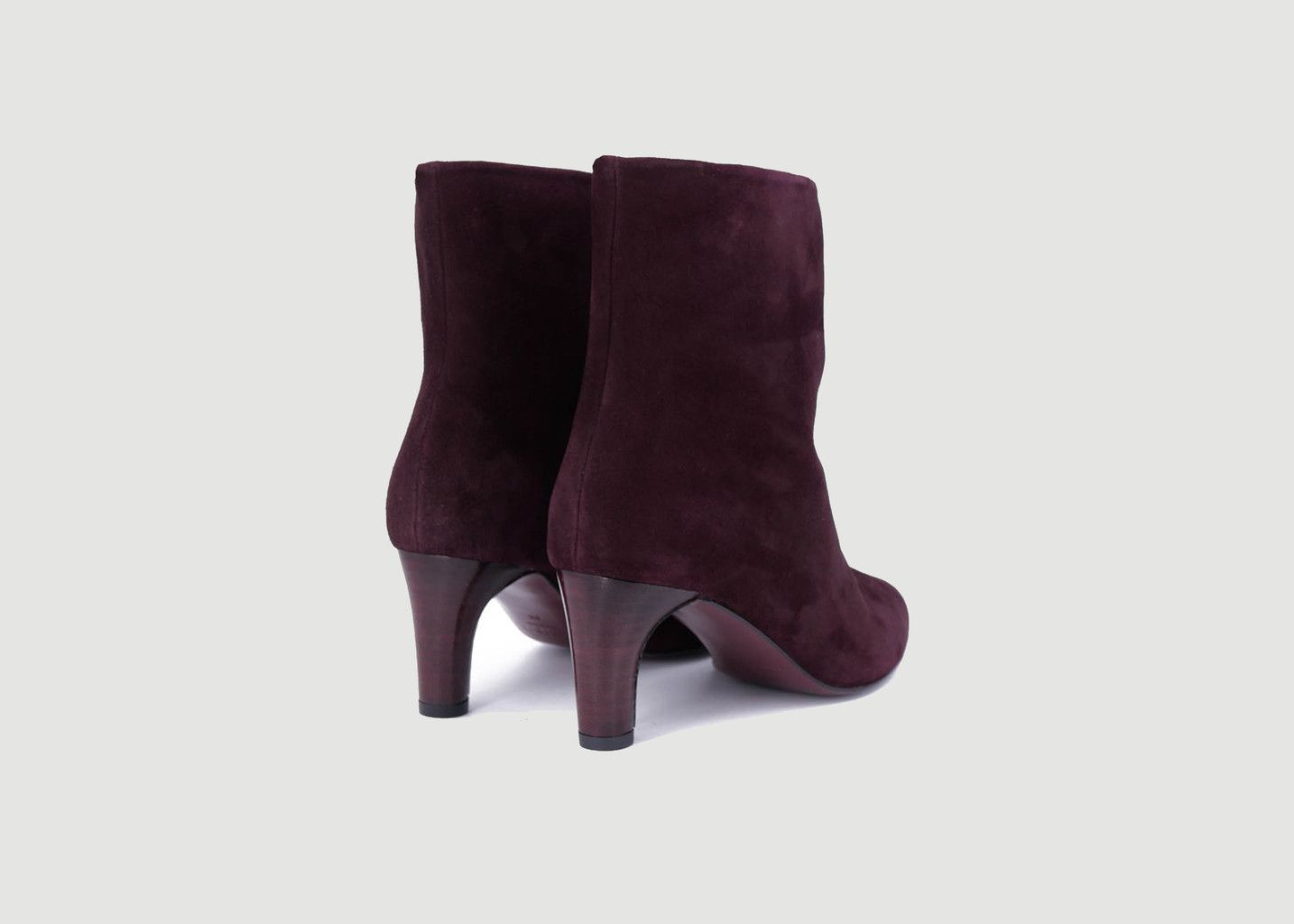 Bottines en cuir velours Ines - Avril Gau