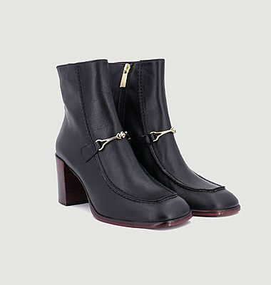 Marcel leather boots with buckles