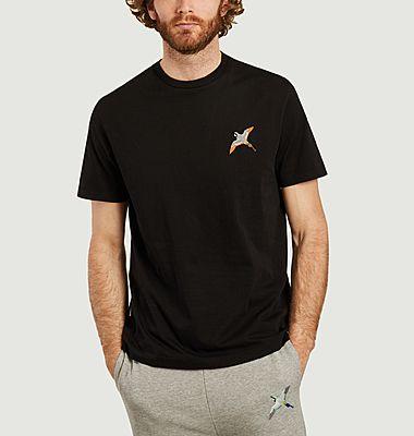 T-shirt broderie oiseau