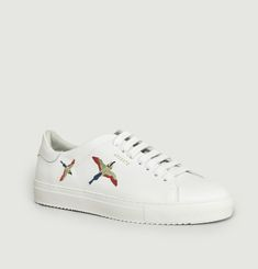 Clean 90 Leather Sneakers With Embroidered Birds