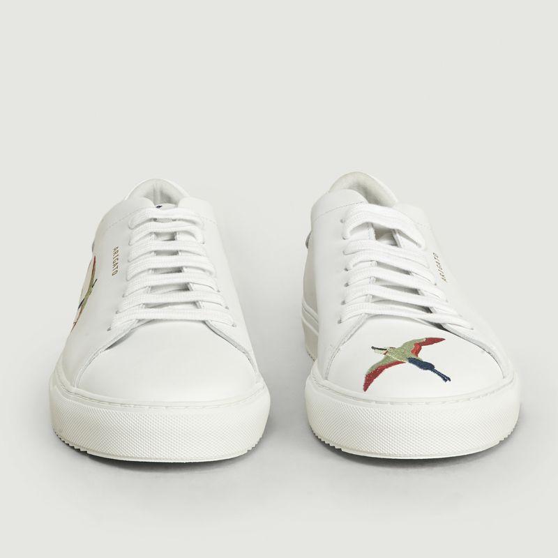 Sneakers En Cuir Avec Broderie Oiseaux Clean 90 - Axel Arigato