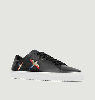 Sneakers en cuir avec oiseaux brodés Clean 90
