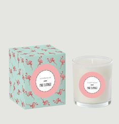 Pink Flamingo Candle