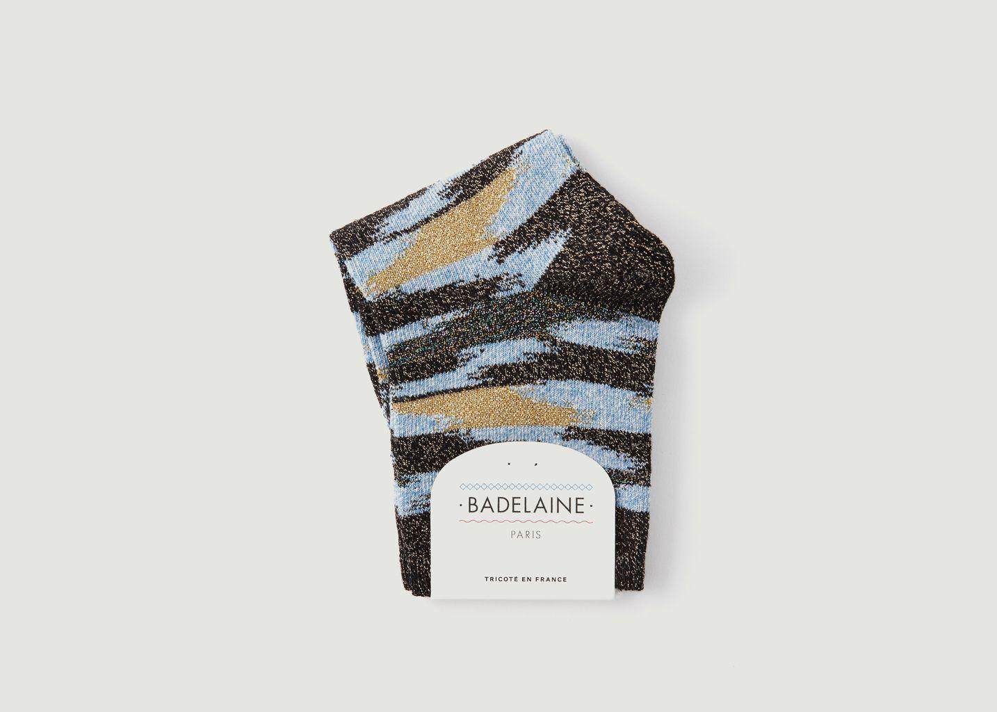 Chaussettes Avec Lurex Ikat Wave - Badelaine