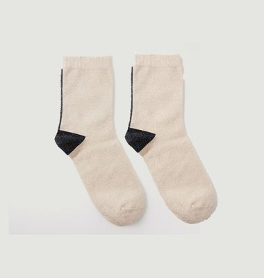 Lurex Stitch Socks