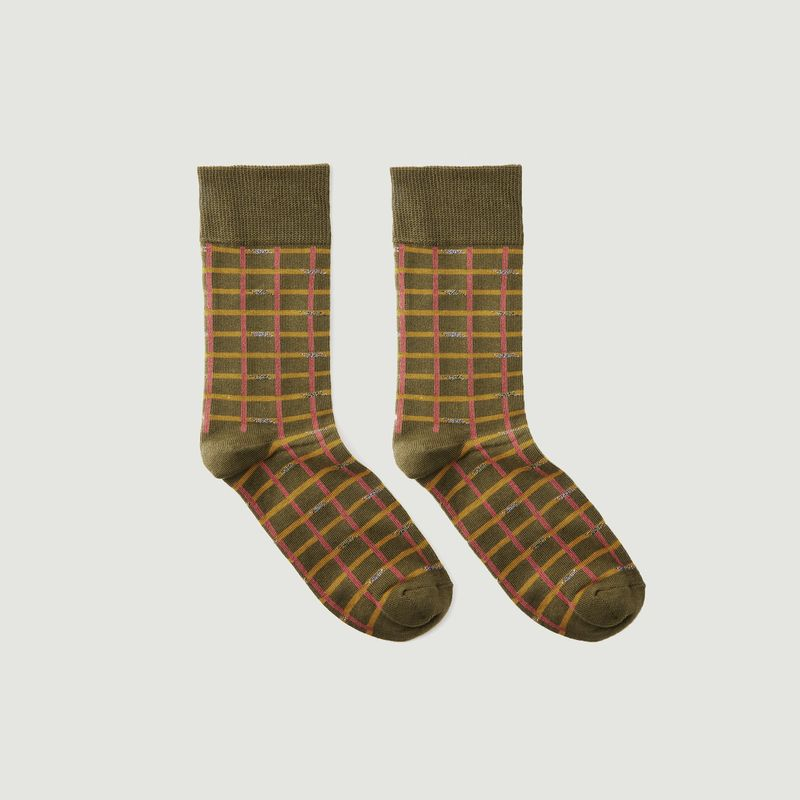 Chaussettes A Carreaux Marno - Badelaine