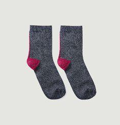 Lurex Stitch Socks