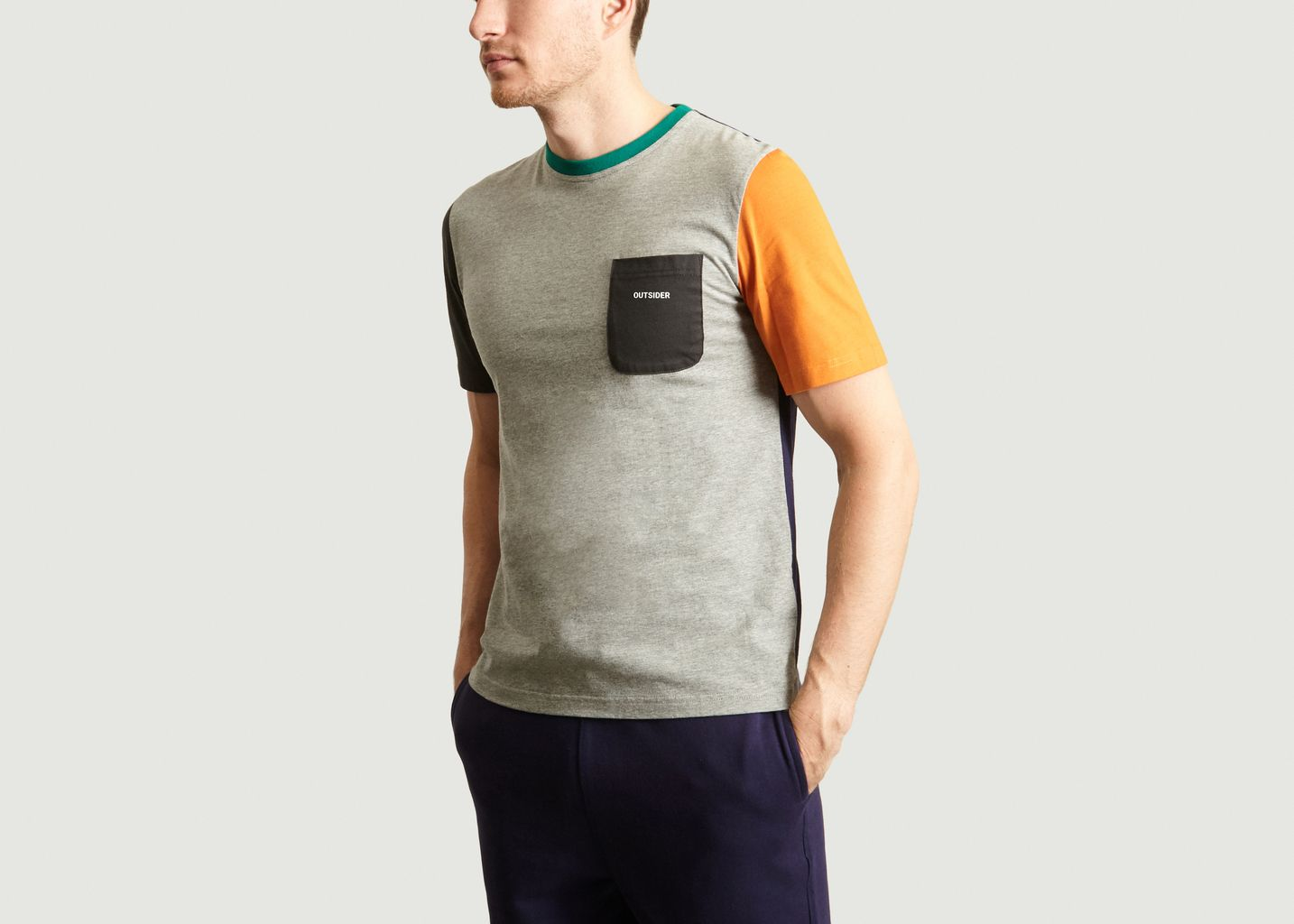 T-Shirt Colorblock - Band Of Outsiders
