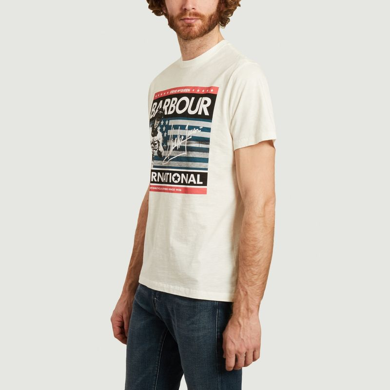 Steve Mcqueen usa flag t-shirt  - Barbour International