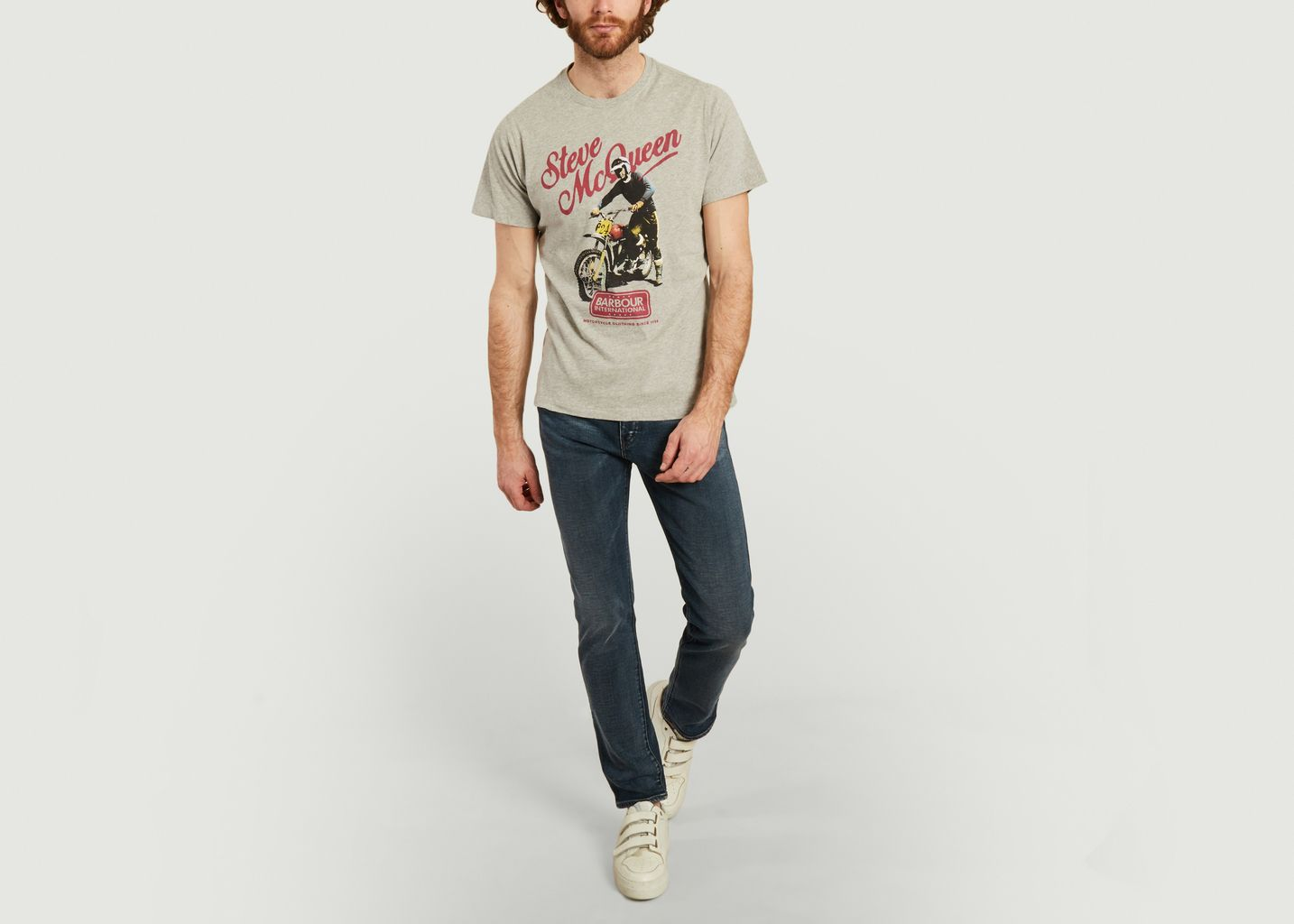 McQueen print t-shirt  - Barbour
