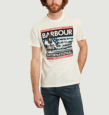 Steve Mcqueen usa flag t-shirt