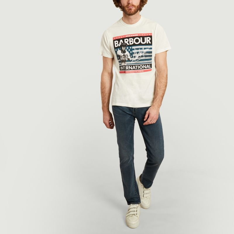 Steve Mcqueen usa flag t-shirt  - Barbour