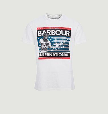 T-shirt Steve McQueen drapeau des états-unis