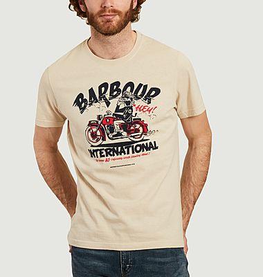 T-shirt imprimé moto