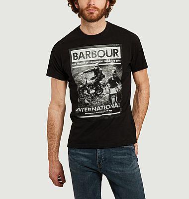 T-shirt Steve McQueen affiche course de motos