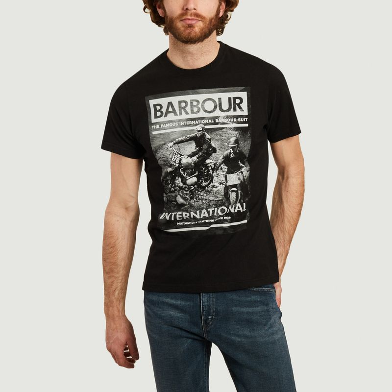 T-shirt Steve McQueen affiche course de motos - Barbour