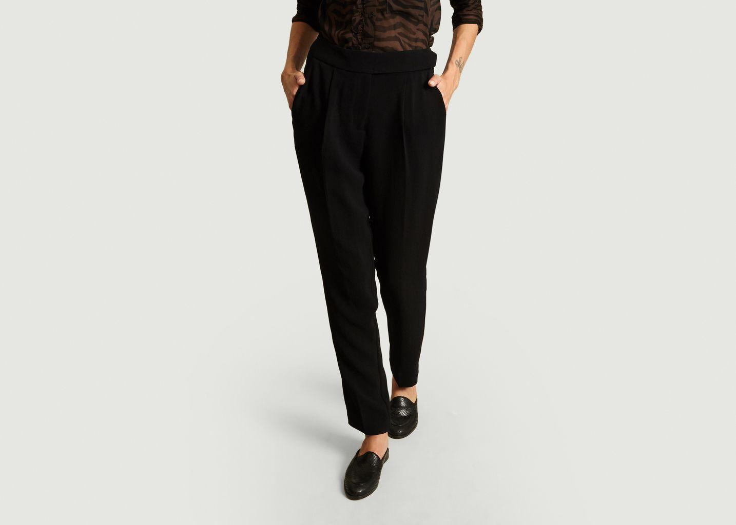 pantalon bash noir et or