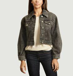 Dilan Crop Top Tinted Denim Jacket