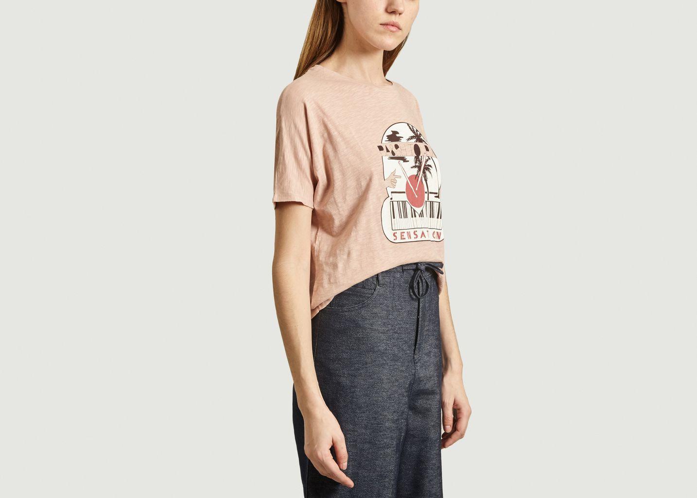 T-shirt imprimé Pink - Ba&sh