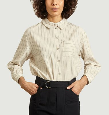 Shiny striped shirt