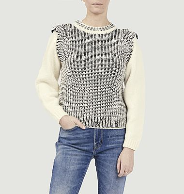 Pull District bi-colore