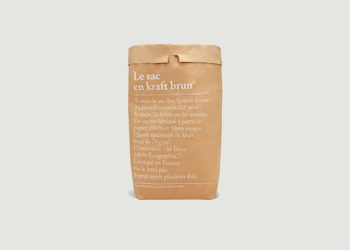 Le Sac en Kraft Brun  - be-poles
