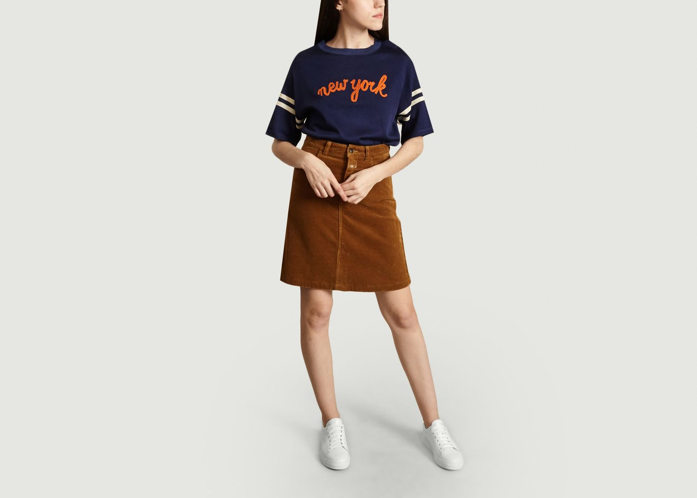 Top Sweat Manches Courtes Brodé New York Fasia - Bellerose