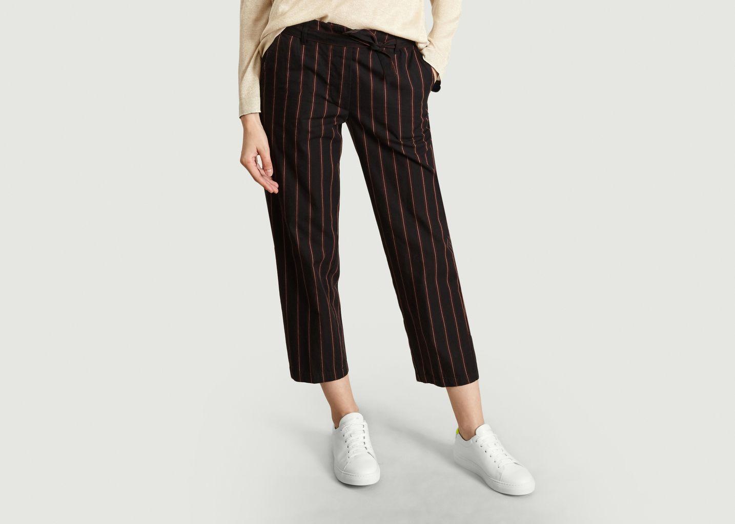 Pantalon Rayé Ceinturé 7/8e Lou - Bellerose