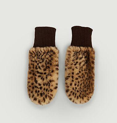 Moufles Fausse Fourrure Madina Imprimé Leopard