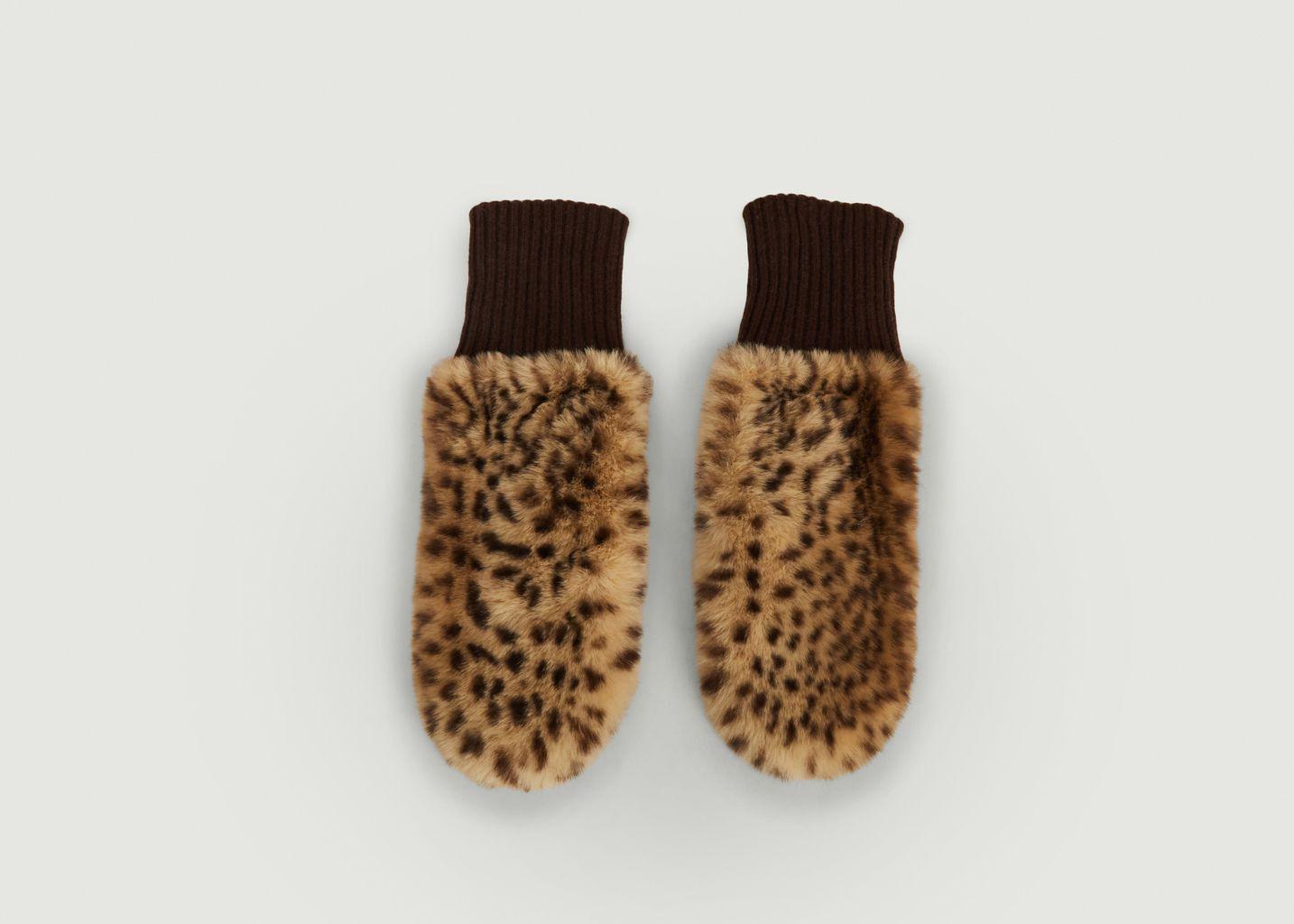 Moufles Fausse Fourrure Madina Imprimé Leopard  - Bellerose