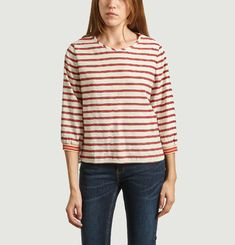 Blouse Rayée Manches 3/4 Solong