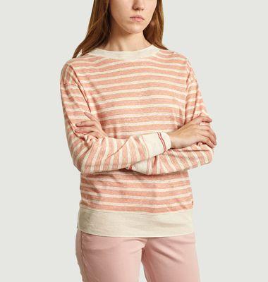 Senia Striped Linen Sweater