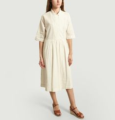 Poni Oversize Dress With English Embroidery