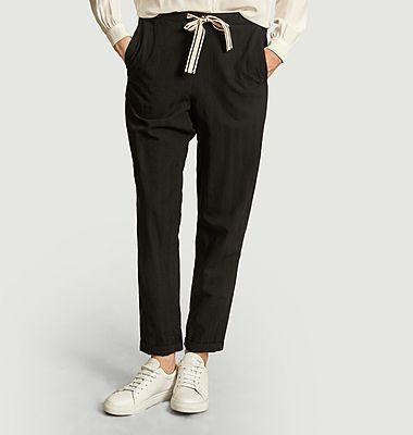 Pantalon avec cordon rayé Vael