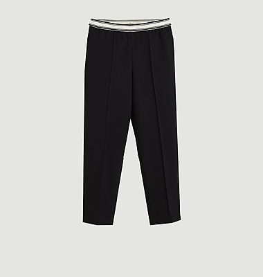 Pantalon droit 7/8e avec taille élastiquée Vlad