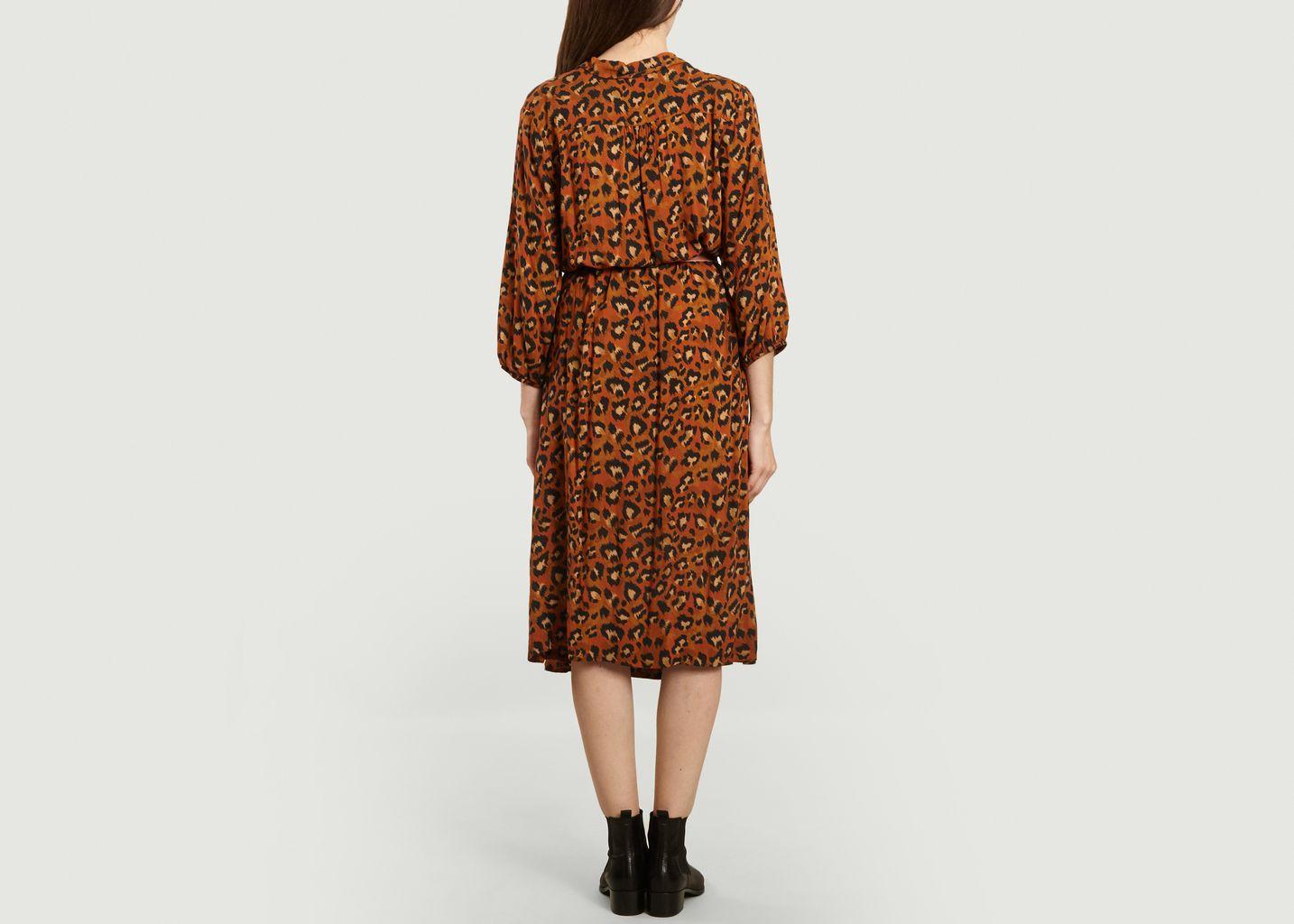 Supermom Damen Dress Ls AOP Brown Leopard Kleid