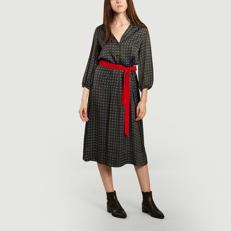 Robe ceinturée motif géométrique Armory - Bellerose
