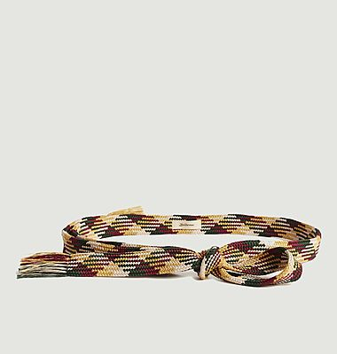 Laia braided fabric belt with fringes