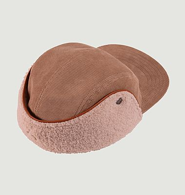 Snapback cap with lapel