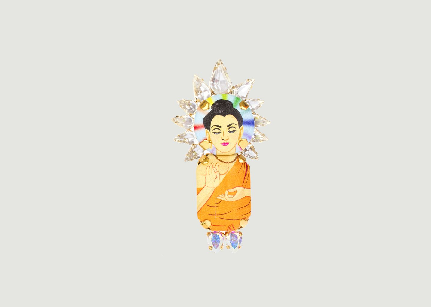 Broche Couronne Buddha - Bijoux de Famille