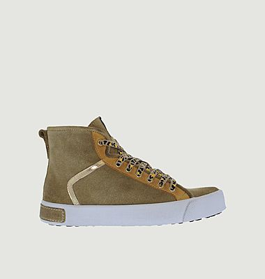Sneakers montantes en cuir suédé UL74