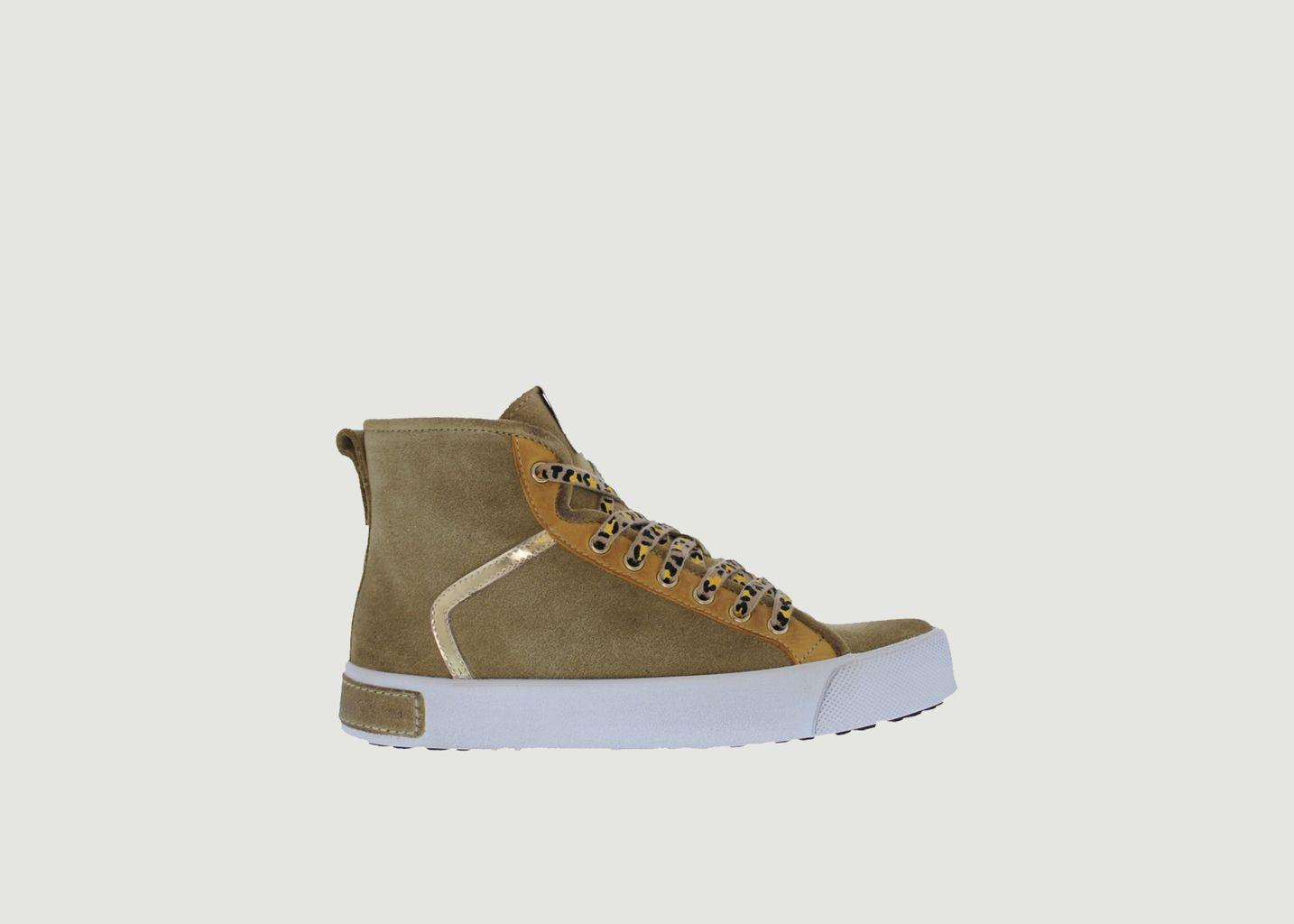 Sneakers montantes en cuir suédé UL74 - Blackstone