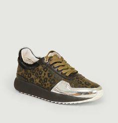 Sneakers de running motif léopard SL91