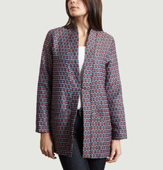 Veste Longue En Jacquard Seattle