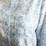 matière Chemise Print Géométrique Seattle - Bleu Tango