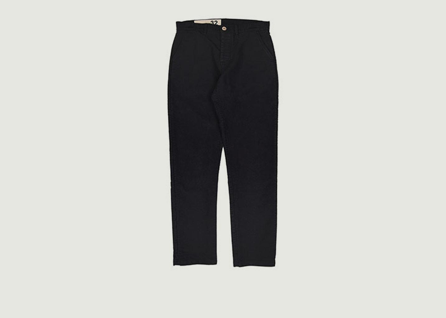 Pantalon Civil en Moleskine - Bleu de Paname
