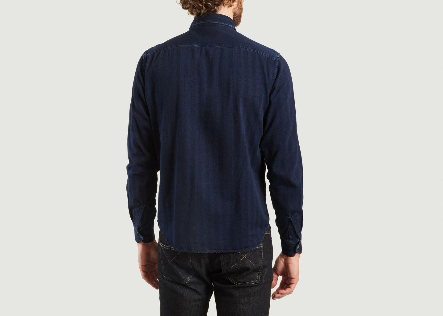 Chemise Unie En Coton - Bleu de Paname
