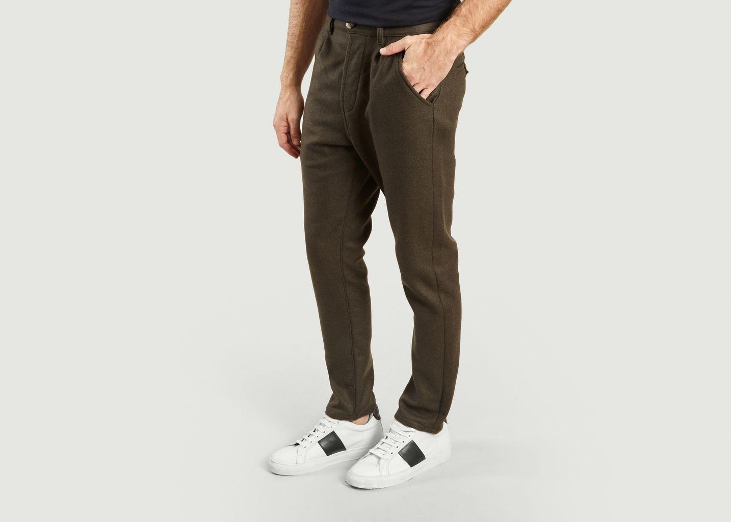Pantalon New Jump en Moleskine - Bleu de Paname