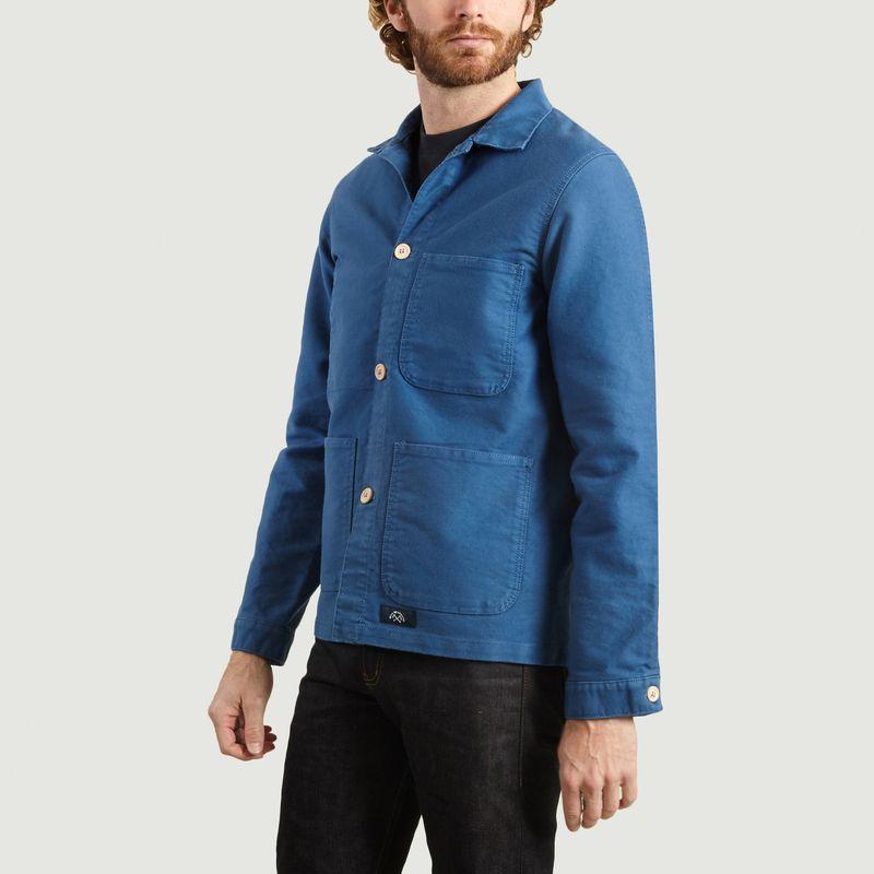 Veste de comptoir moleskine Bleu Clair Bleu de Paname | L